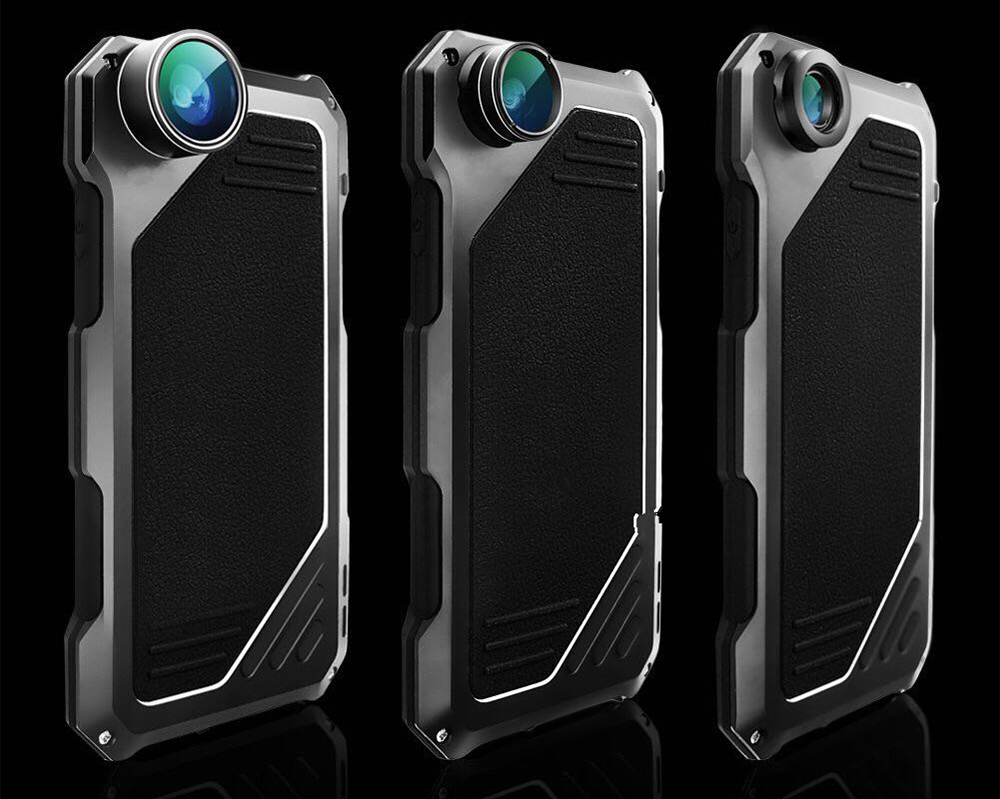 3 in 1 198 Degree Fisheye / 15X Macro / 0.63X Wide Angle Lens IP54 Dustproof Shockproof Protective Cover for iPhone 5 / 5S / SE