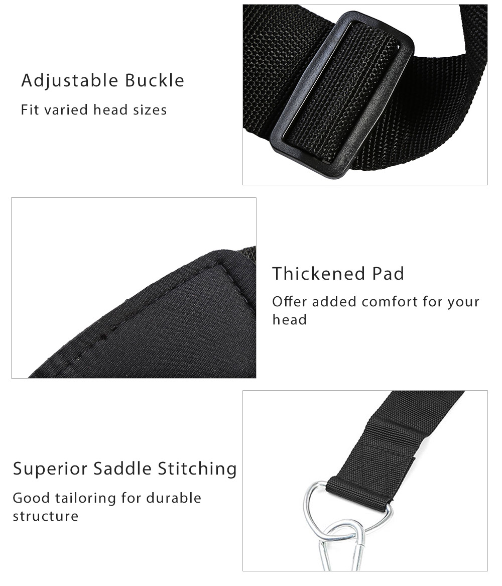 VALEO Head Harness Belt Neck Weight Lifting Strength Exercise Strap