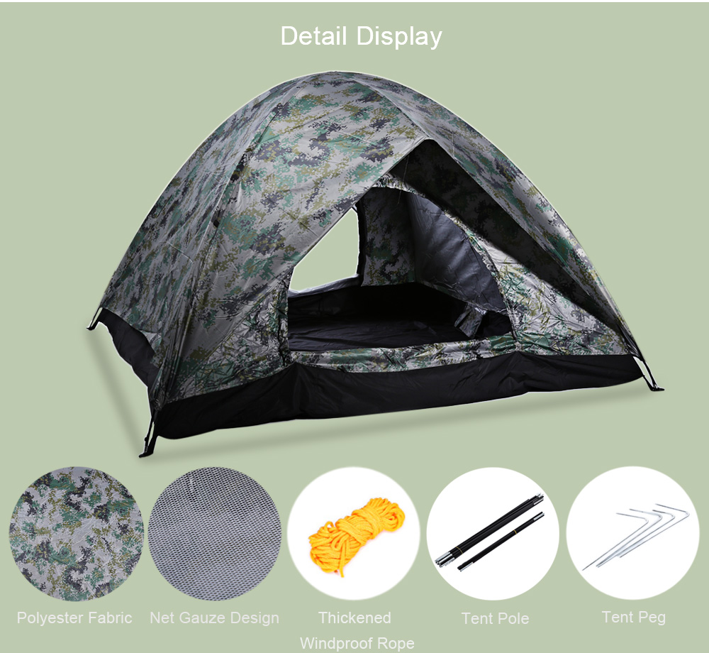 Camouflage Tabernacle Outdoor Camping Tent for Hiking Fishing Hunting Adventure Picnic Party