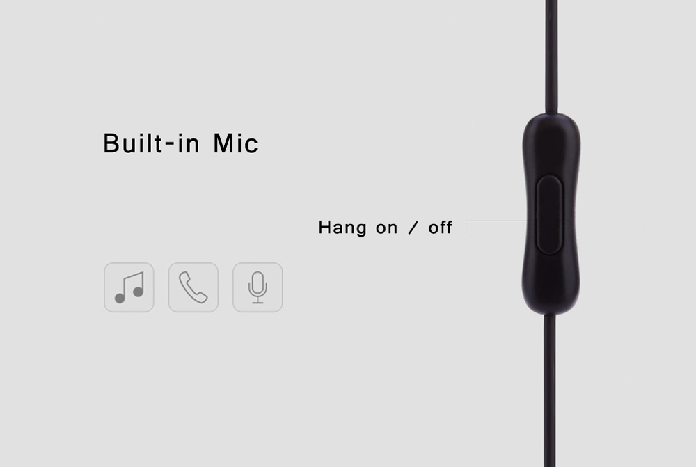 HOCO M3 3.5MM Plug Stereo Music Earphones Headphones