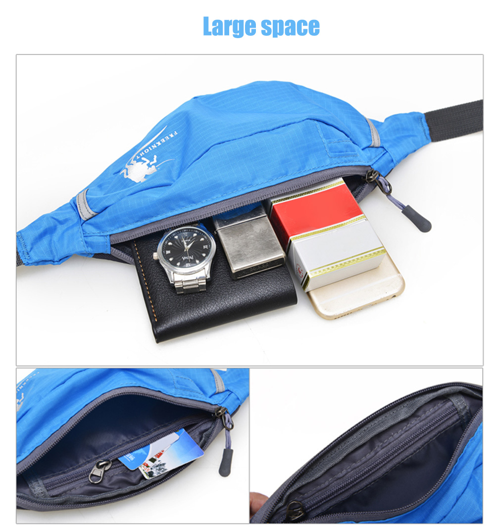 FREEKNIGHT FK0807 Unisex Running Waist Pack Mobile Phone Bag Money Belt for Traveling Mountaineering Fishing Cycling