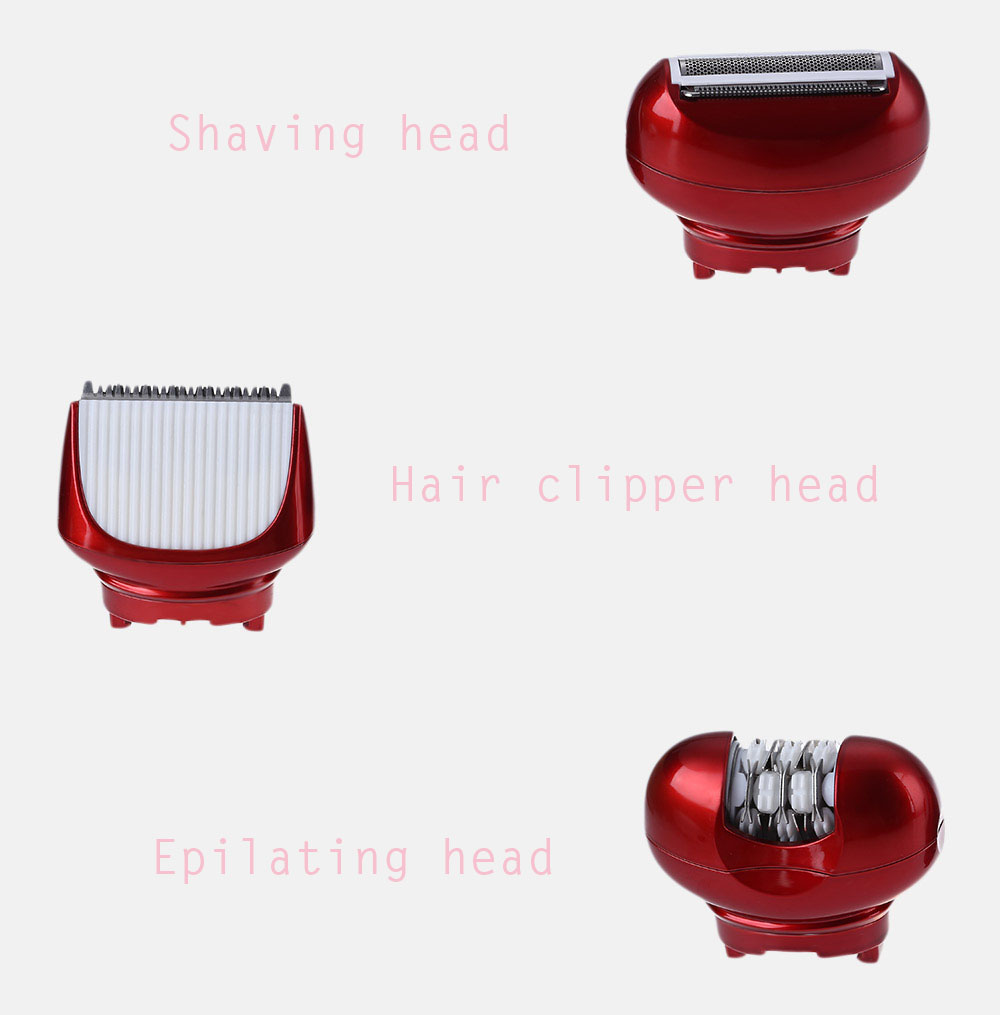 Kemei KM - 3048 Rechargeable Electric Epilator Hair Clipper Shaver Defeatherer for Lady