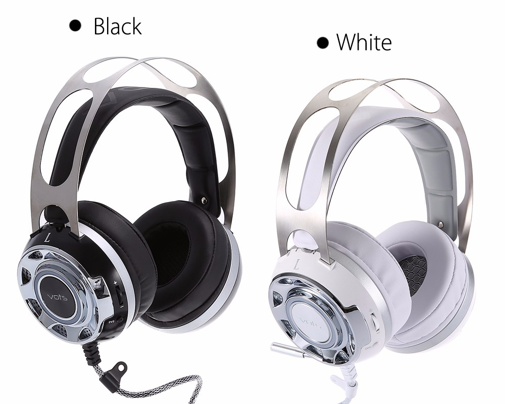 Vots Virtual Surround Sound USB Gaming Headset with Microphone