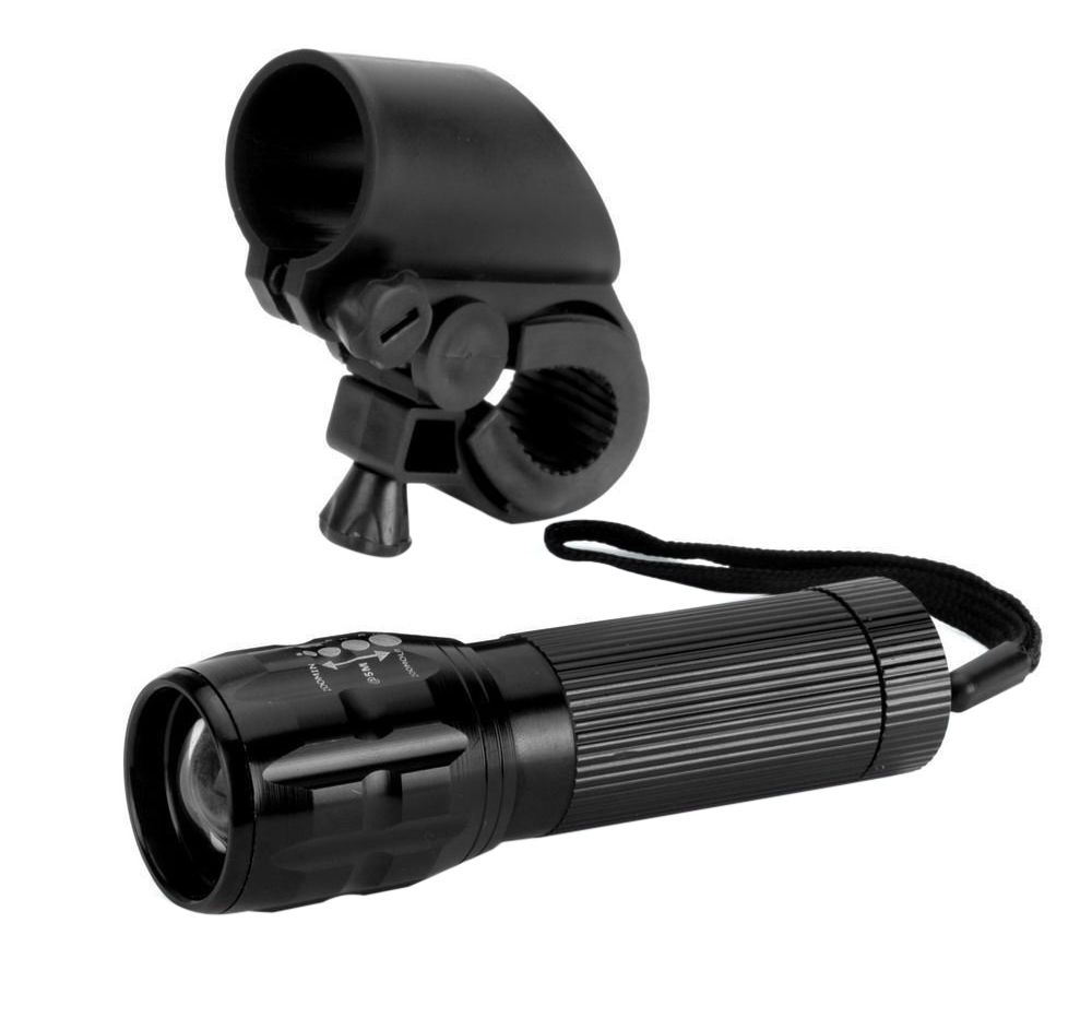 Q5 Bicycle Light 3W 140 Lumens 3 Modes LED Lamp Front Torch with Torch Holder