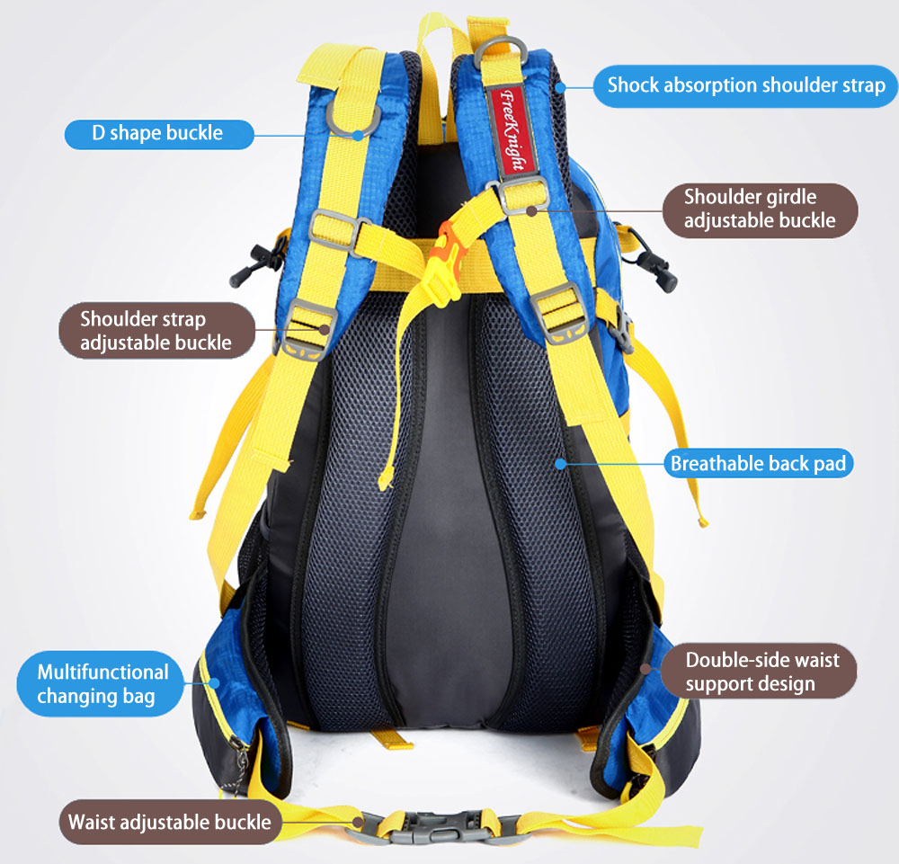 Free Knight FK0215 Outdoor 40L Nylon Water Resistant Backpack Mountaineering Camping Bag