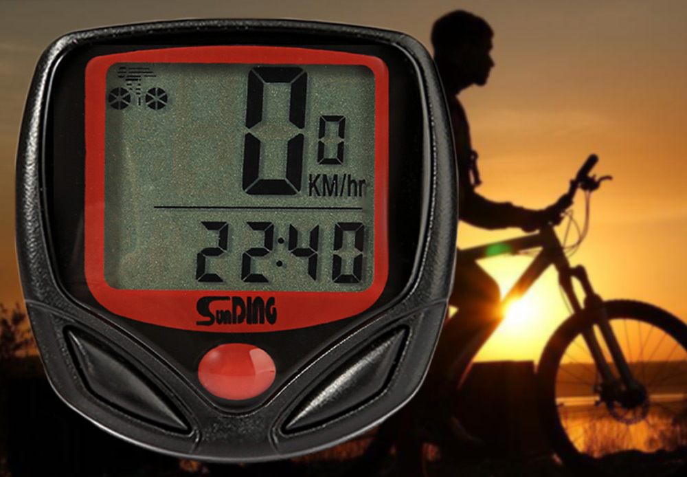 SunDing SD - 548B Leisure Bicycle Computer Water Resistant Cycling Odometer Speedometer