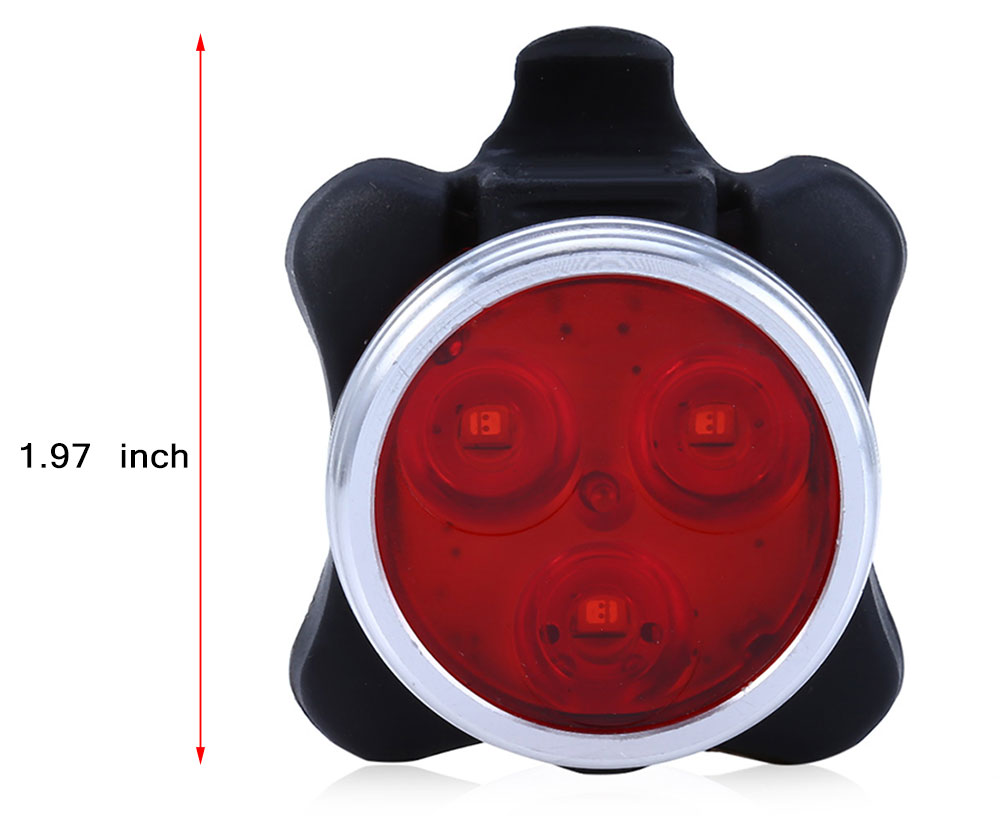 USB Rechargeable Bike Back Tail Light Caution Lamp Night Torch
