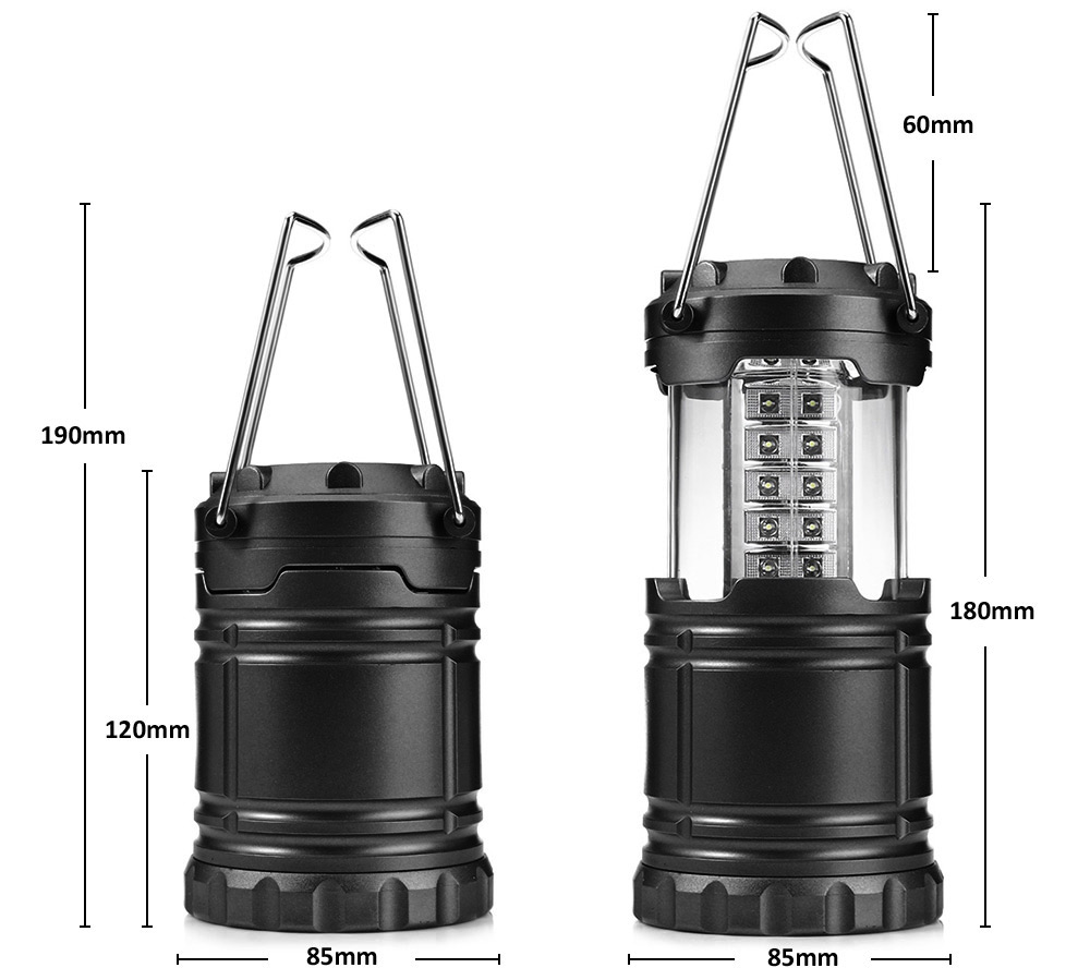 Ultra Bright Collapsible 30 LED Camping Lanterns Lights for Hiking Emergencies