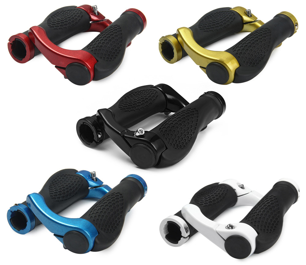 Anti-slip Rubber Aluminum Alloy Bicycle Handlebar Grips Human Engineering Design Mountain Bike Handle Bar Parts