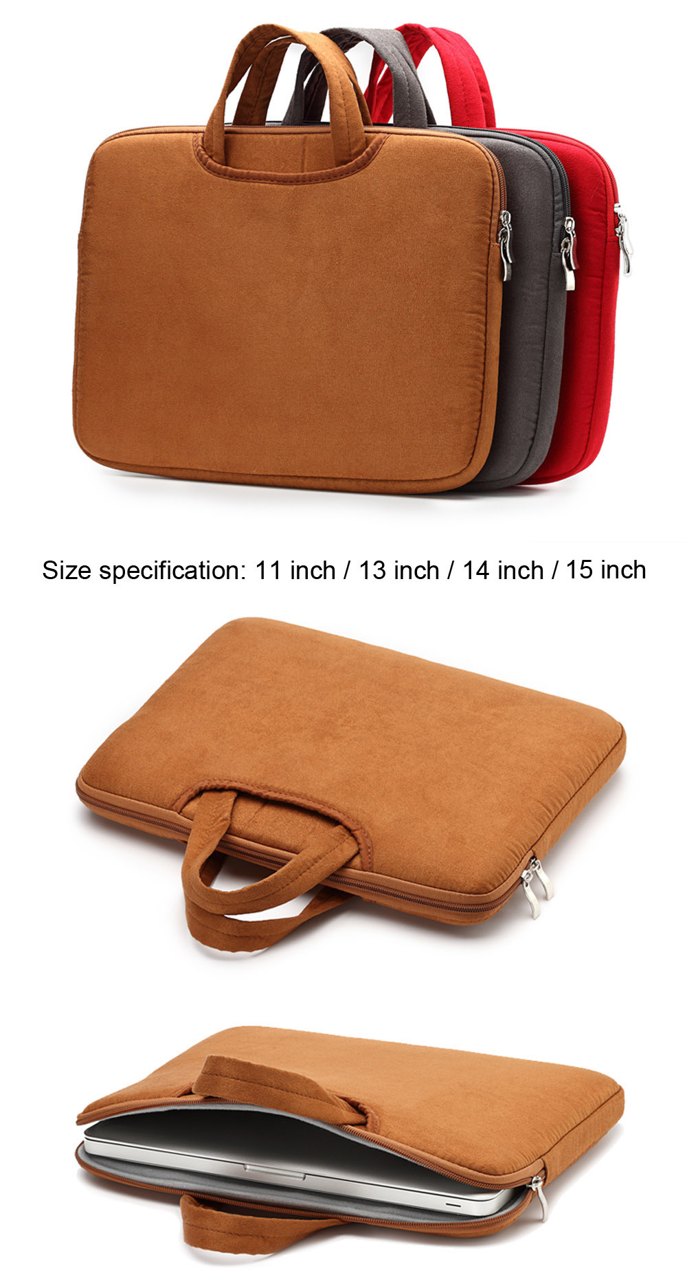 15 inch Laptop Bag Protective  Pouch for MacBook Air / Pro