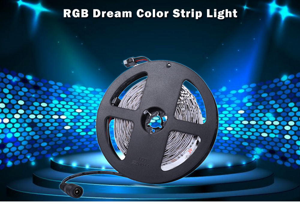 5M 5050 IC 6803 LED RGB Dream Color Strip Light 133 Modes Lamp with Remote Control