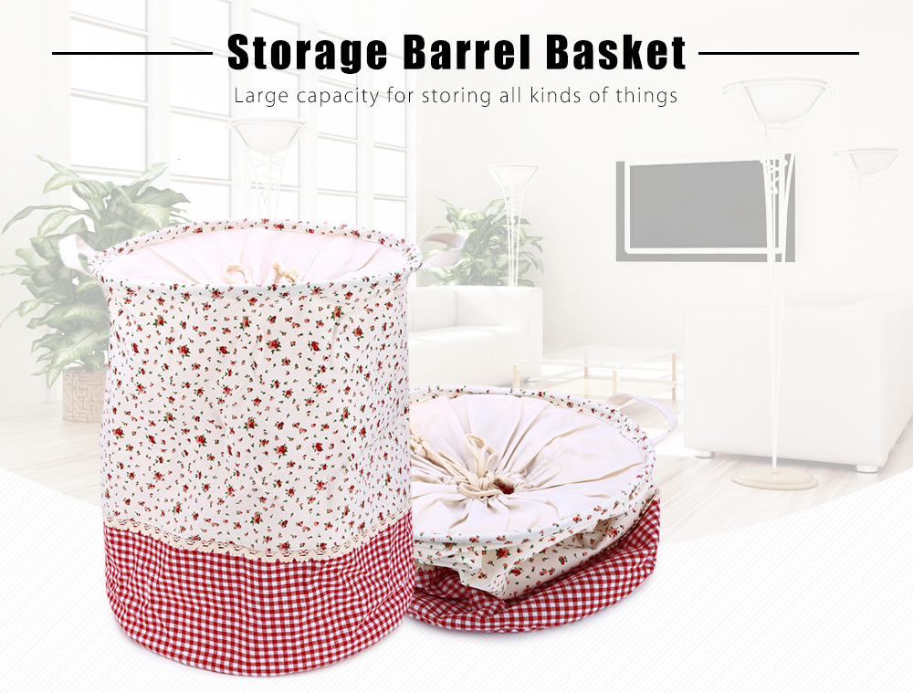 Multifunction Beam Port Linen Stackable Storage Barrel Laundry Basket