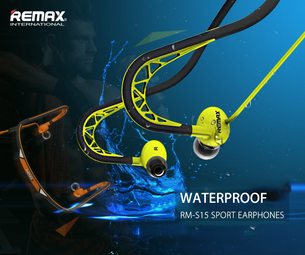 REMAX RM - S15 3.5MM Plug Stereo HiFi Sport Earphones Headphones