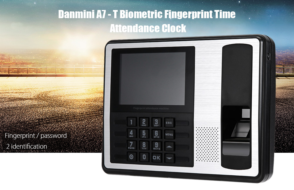 Danmini A7 - T 4.0 inch TFT Fingerprint Time Attendance Clock Employee Payroll Recorder for Company School