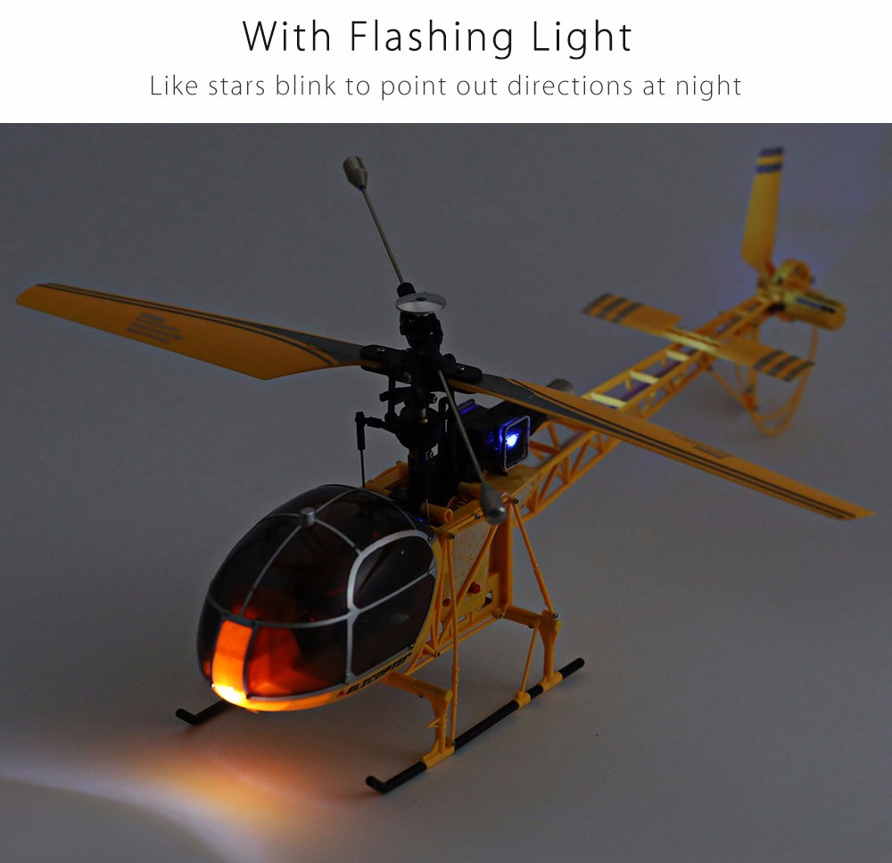 WLtoys V915 Lama 4 Channel 2.4G 6 Axis Gyro RC Helicopter Single Propeller RTF