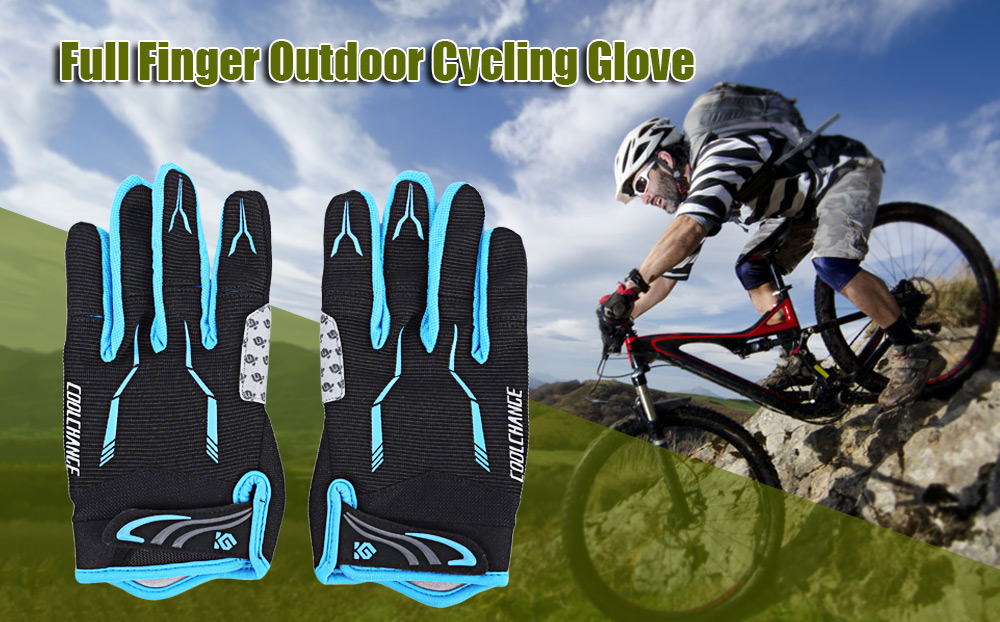 CoolChange Pair of Full Finger Outdoor Comfortable Sport Protective Cycling Glove