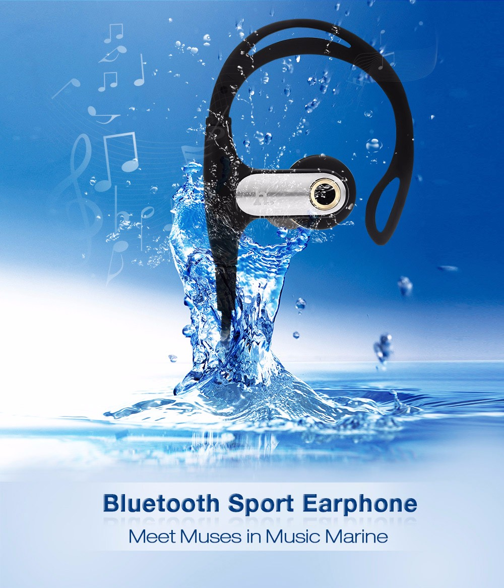 HOCO EPB03 Bluetooth V4.1 Wireless Sport Earphone Twisting Type Cable Clear Voice