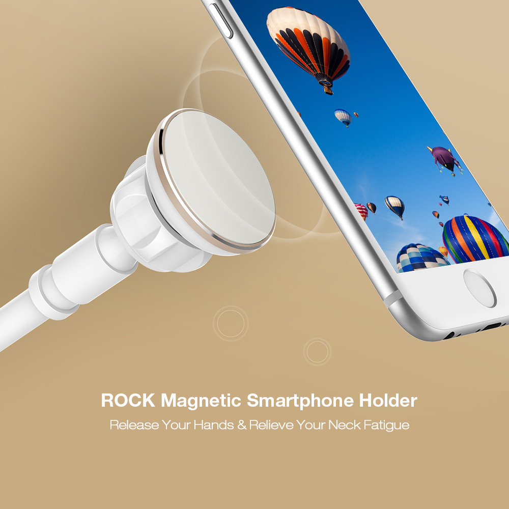 ROCK Magnetic Smartphone Holder Clip Stand with 360 Degree Rotation