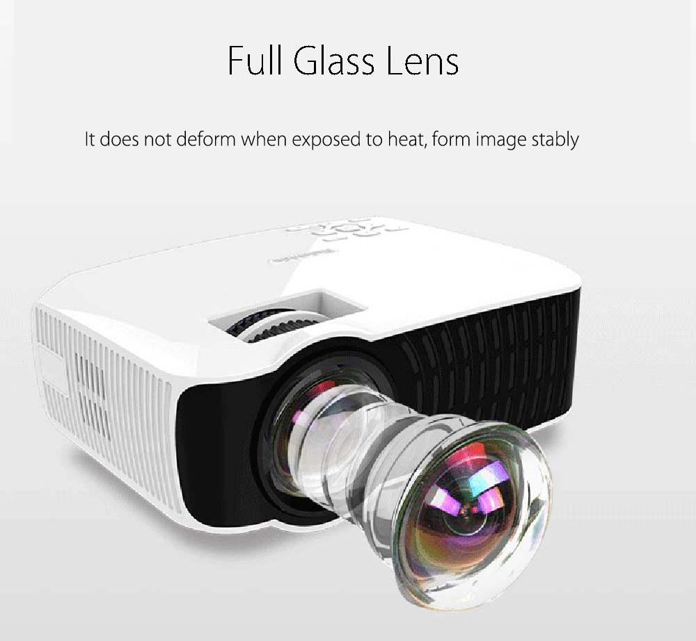 RUISHIDA M3 LCD Projector Android 4.4 Wireless Bluetooth 4.0 WiFi 3000 Lumens 1280 x 720 Pixels for Home Office Education