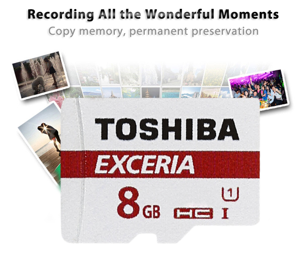 Toshiba Multi-storage TF Memory Card SDHC SDXC Class 10 UHS-I with Micro SD Adapter Combo