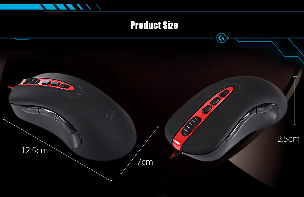 Redragon ORIGIN M903 Optical 4000DPI 9D USB Pro Gaming Wired Mouse with LED Backlight