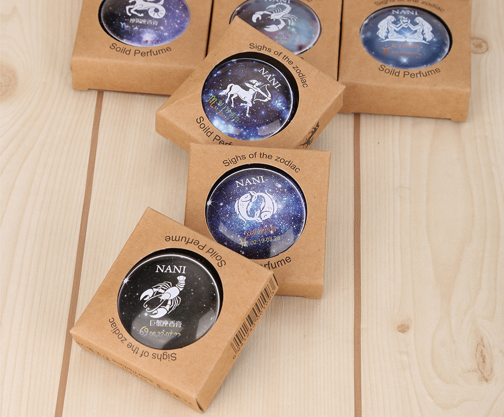 NANI 1pc Unisex Magic 12 Constellation Zodiac Solid Perfume Deodorant Fresh Elegant Fragrance