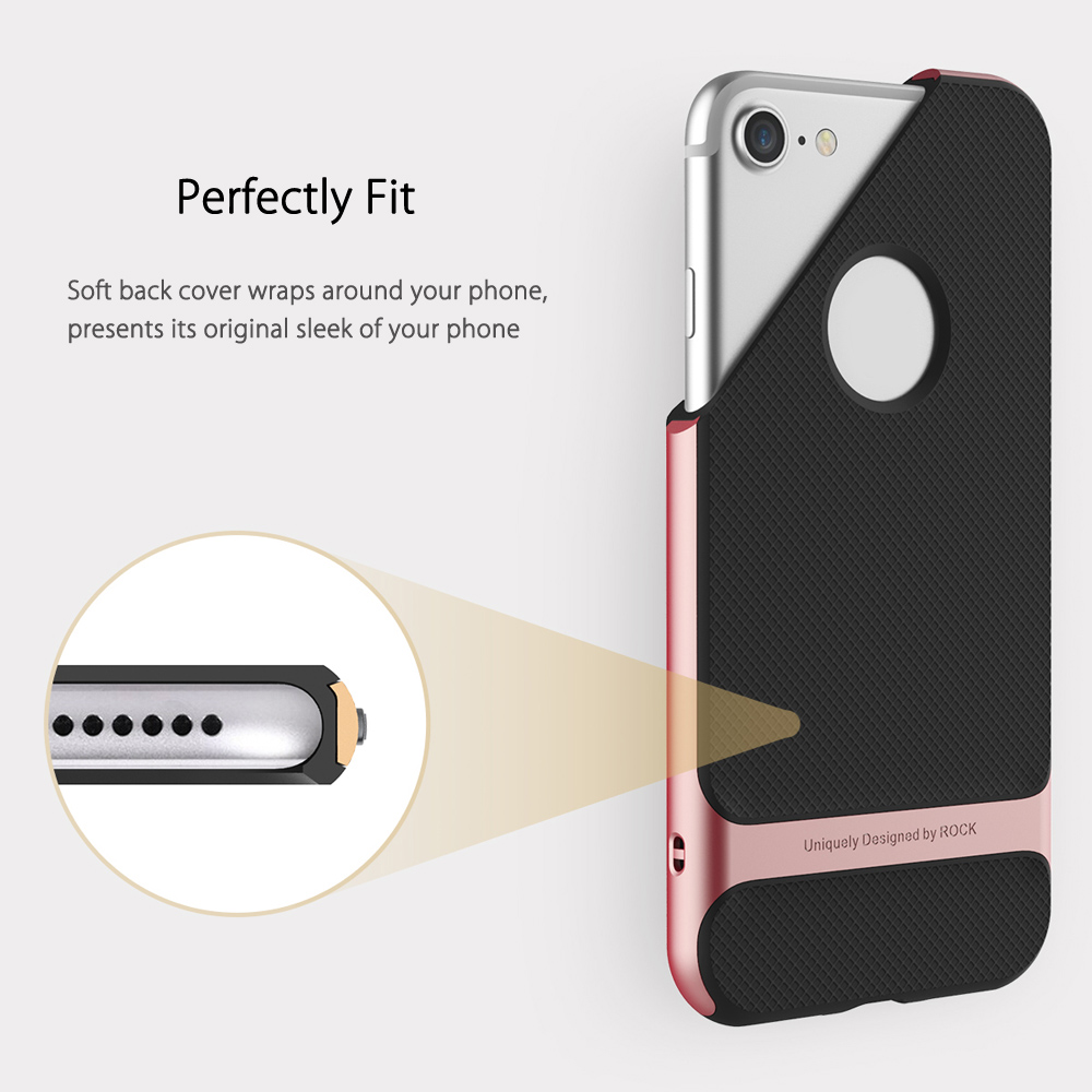 ROCK Royce Series Business Style Protective Shell TPU Back Cover for iPhone 7