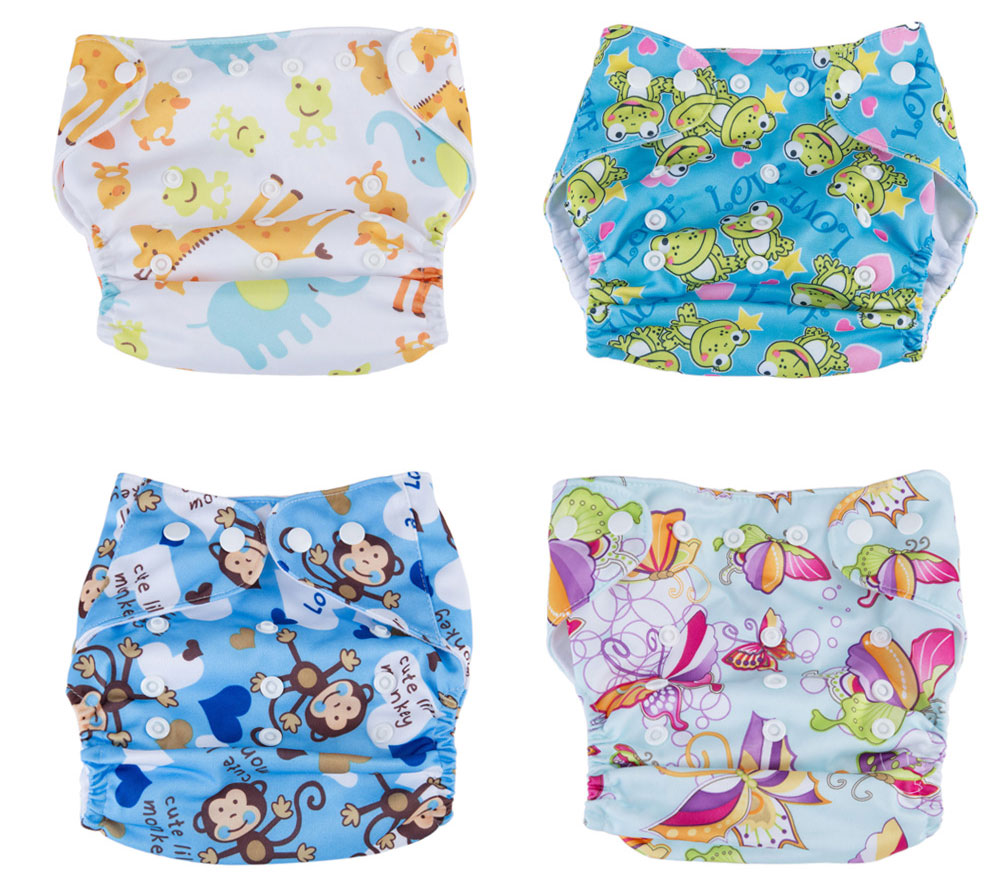 Sweet Water Resistant Washable Breathable Adjustable Elastic Printed Baby Cloth Diaper