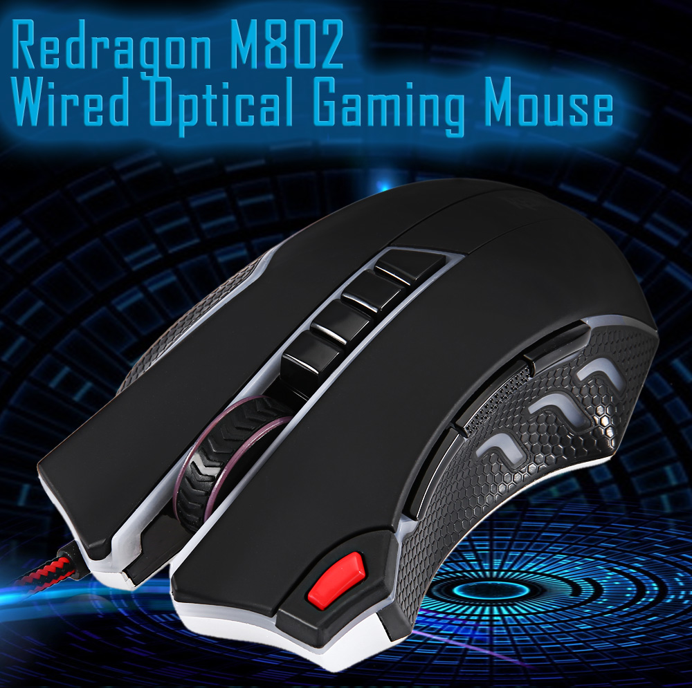 Redragon M802 USB Wired 11 Buttons Cool Optical Gaming Mouse