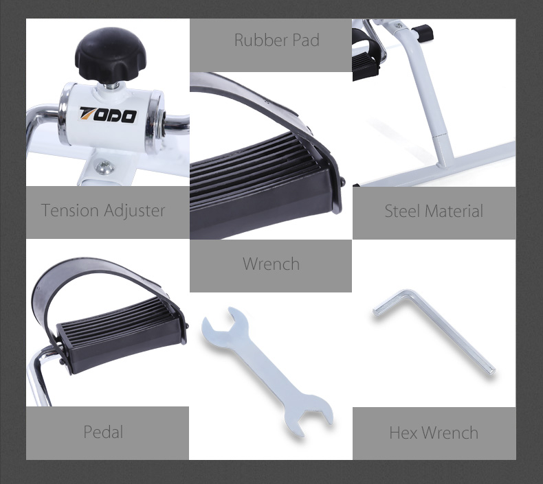 TODO Mini Indoor Bike Pedal Exerciser Cycling Fitness