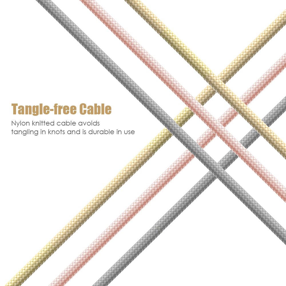 ROCK C2 30CM Nylon Knitted Type-C Data Sync Transfer Cable