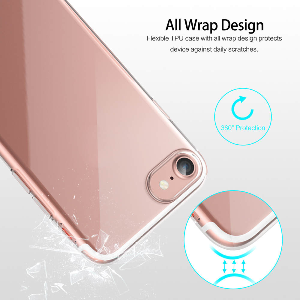 ROCK Ultra Thin TPU Slim Jacket Back Cover for iPhone 7 Plus
