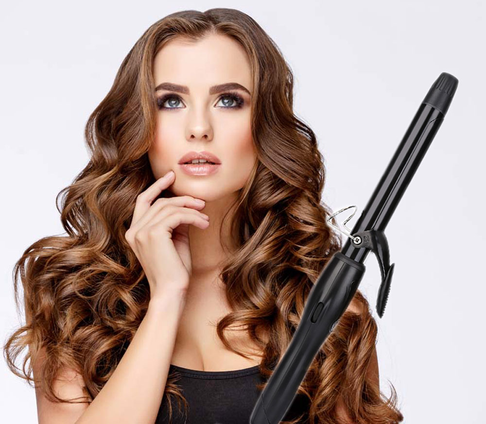 LM - 223 Portable Electric Hair Curler Personal Clip Tube Styling Tool