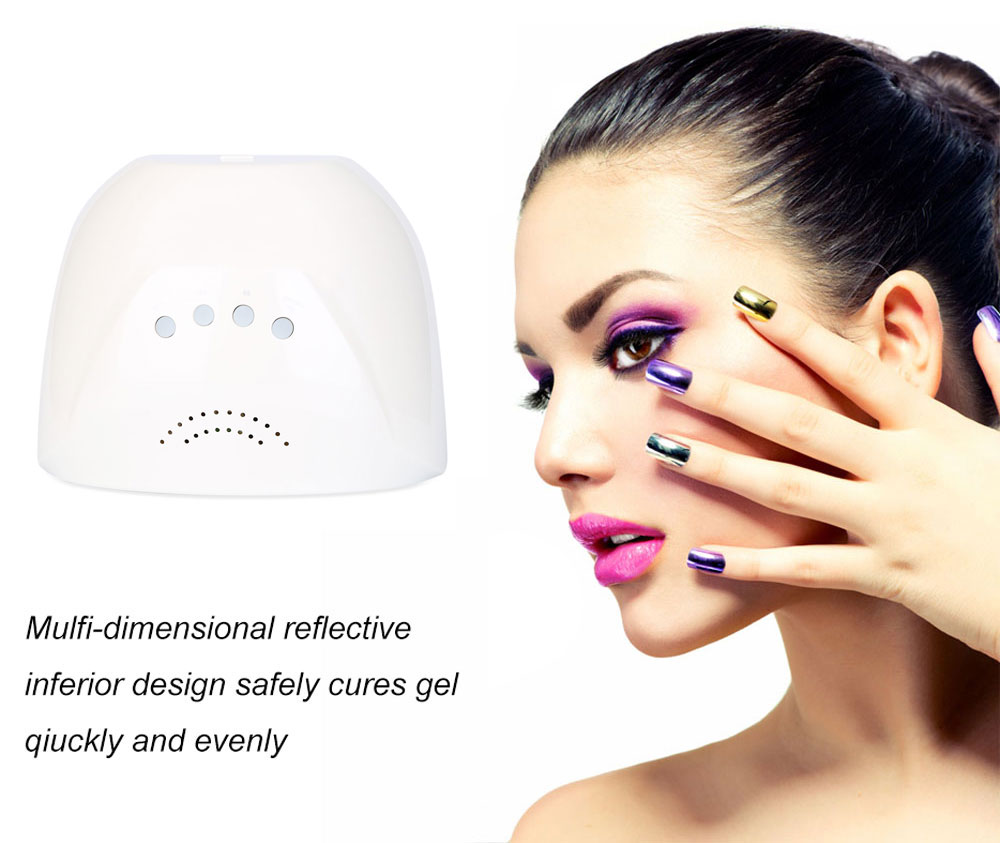 GY - LED - 033 Portable 24W / 48W Adjustable Manicure Tool LED / UV Phototherapy Nail Gel Lamp