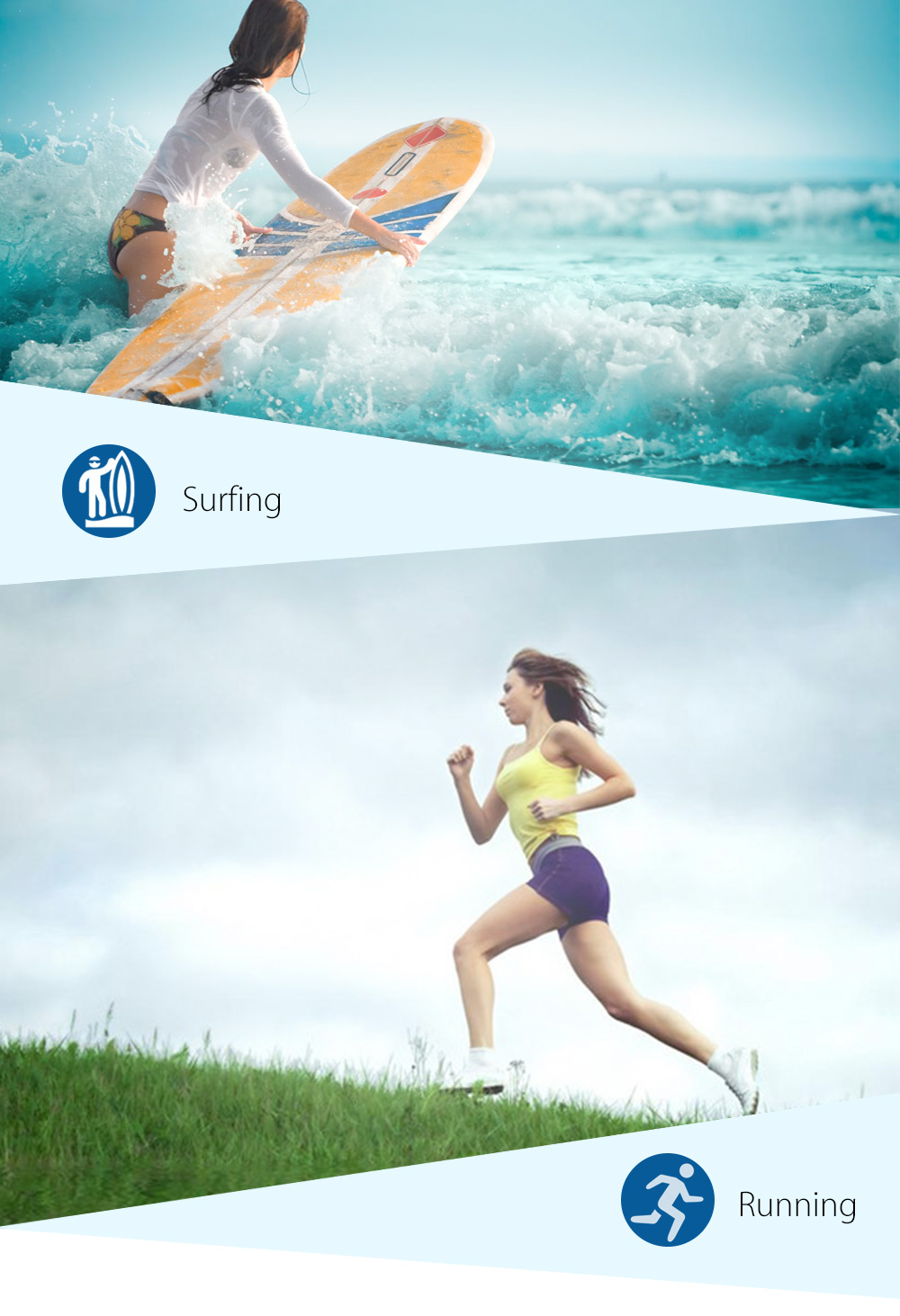Waterproof Stereo Wired In-ear Earphone for Swimming Surfing Running
