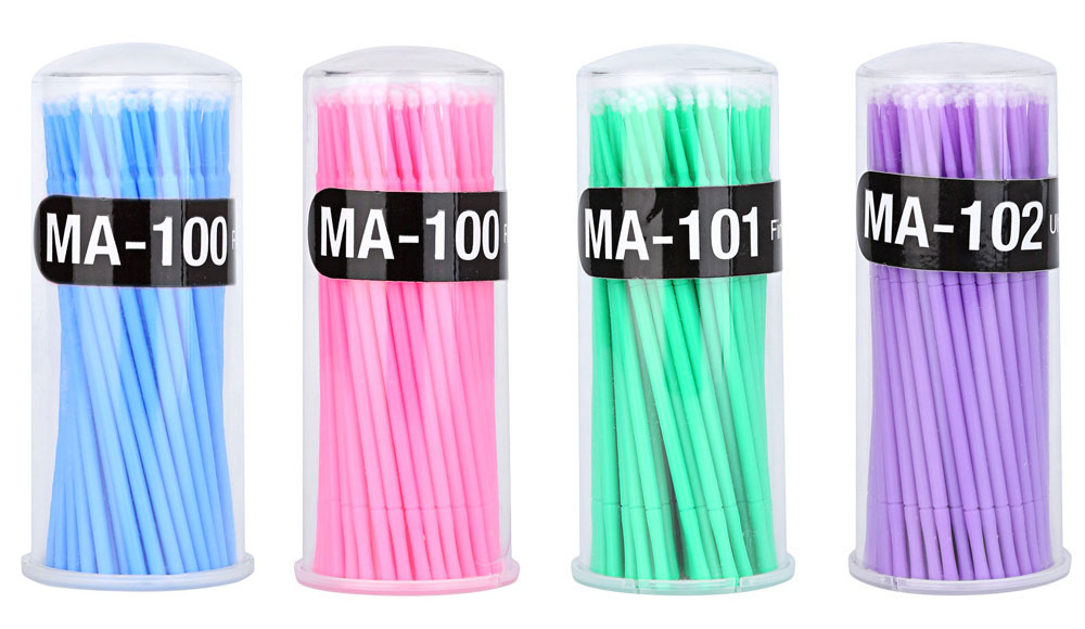 Disposable Eyelash Glue Special Cleaning Stick Mascara Cotton Swab