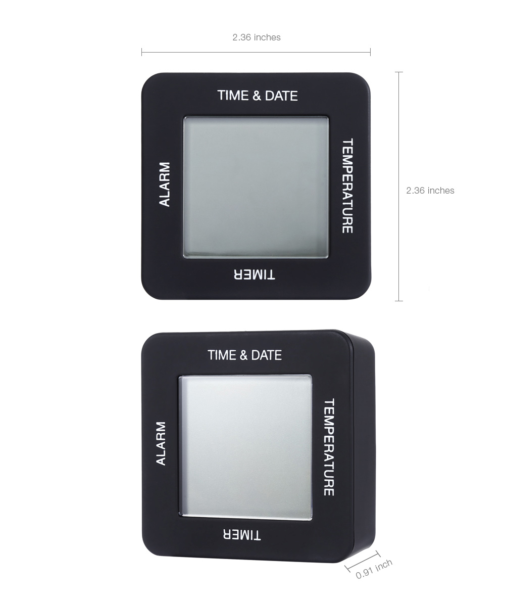 TS - BN65 Creative Multifunctional Four-side Digital Rotate Clock