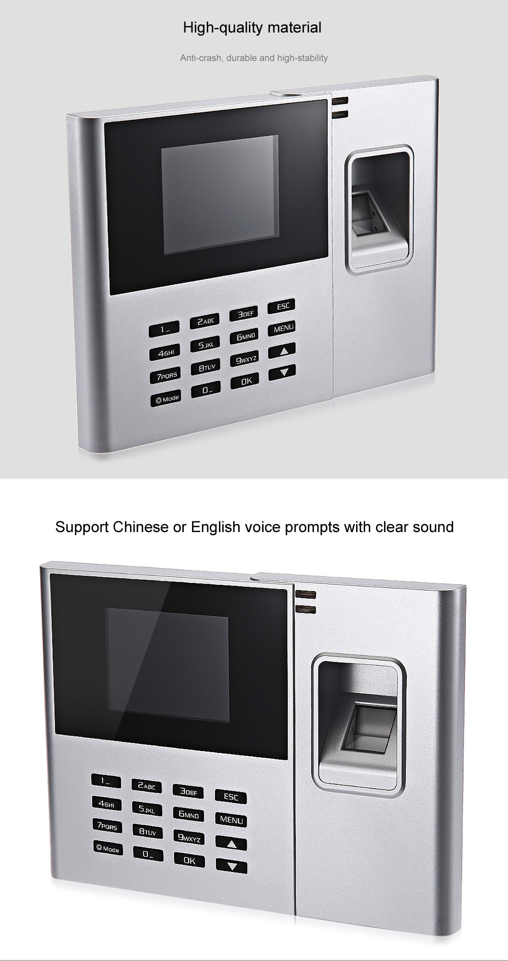 DANMINI N308 Fingerprint Reader Time Attendance Checking Recorder