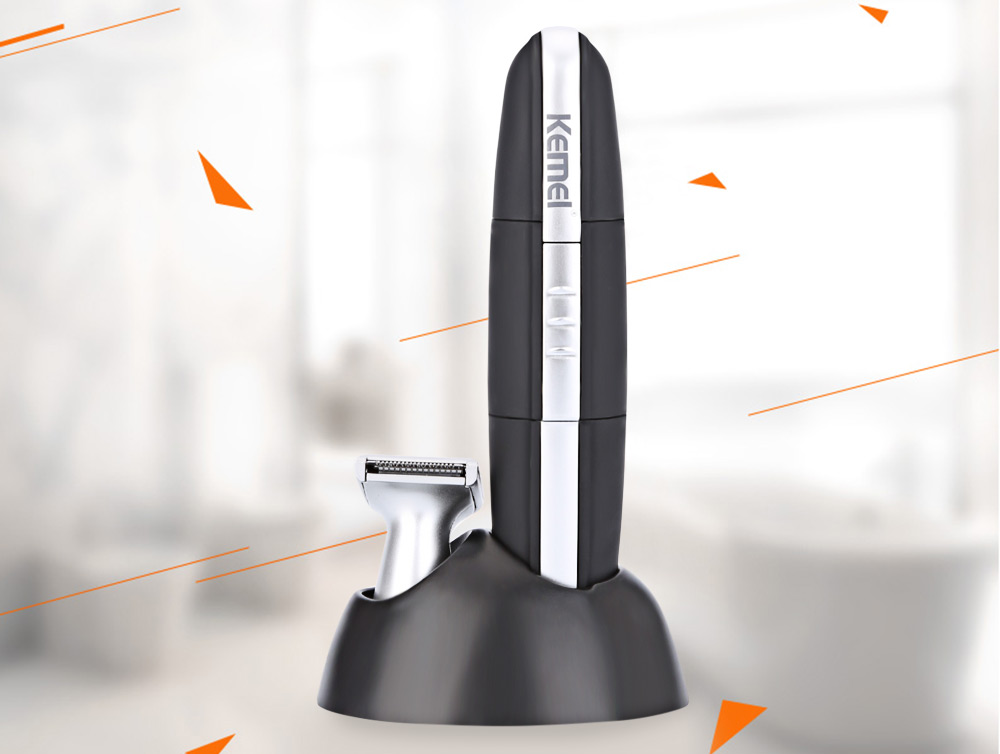 Kemei KM - 600 Washable Electric Nose Hair Cleaner with Trimmer