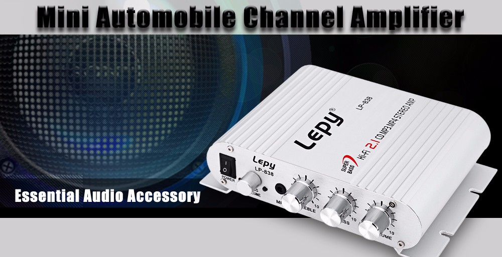 Lepy LP - 838 Automobile Channel Amplifier Stereo Subwoofer Audio Accessory