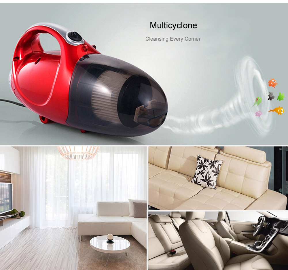 JK - 8 Multi-functional Car Electric Vacuum Cleaner Household Portable Dust Collector Air Inflation