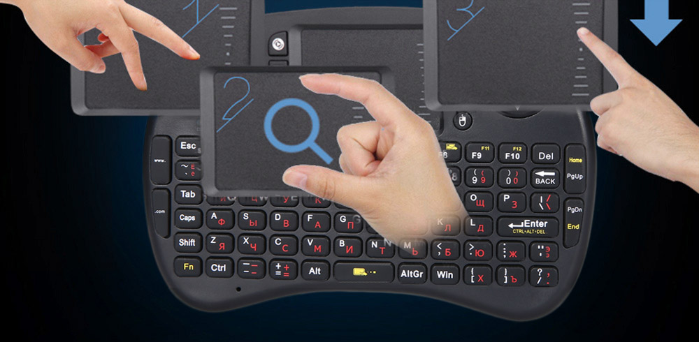 M2S 2.4GHz Wireless QWERTY Keyboard Touchpad with USB Receiver