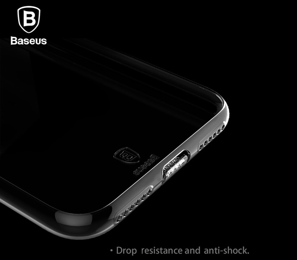 Baseus 4.7 inch Ultra Thin Transparent Soft Protective Dustproof Mobile Phone Back Case Cover for iPhone 7