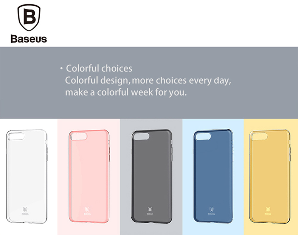 Baseus 4.7 inch Ultra Thin Simple Soft Protective Mobile Phone Back Case Cover for iPhone 7