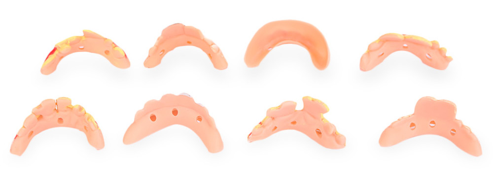 8pcs Funny Goofy Fake Denture Teeth Decoration Props Trick Toy for Halloween