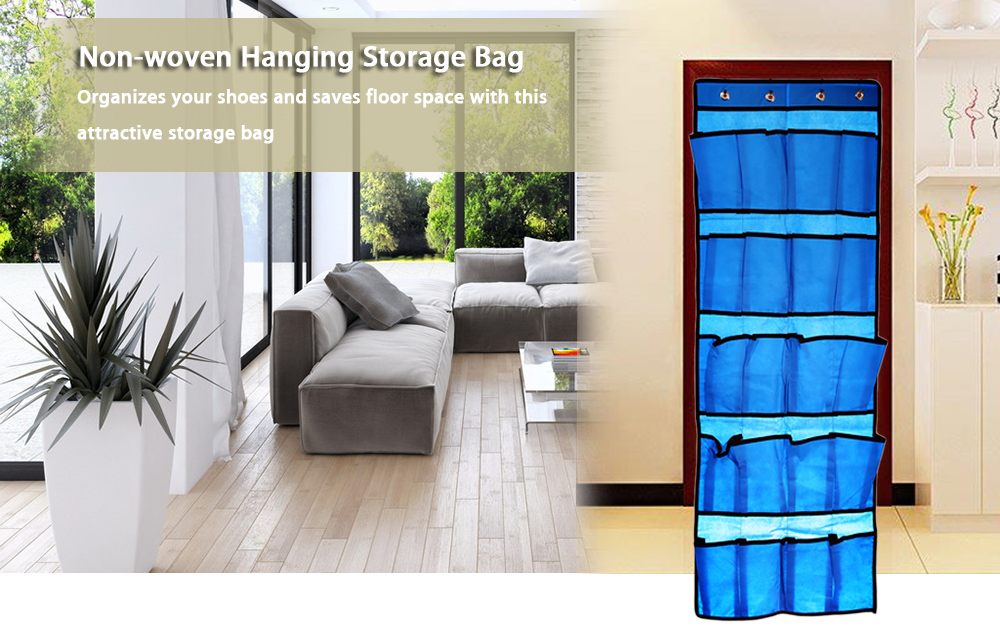 20 Pockets Non-woven Door Shoes Hanging Storage Bag