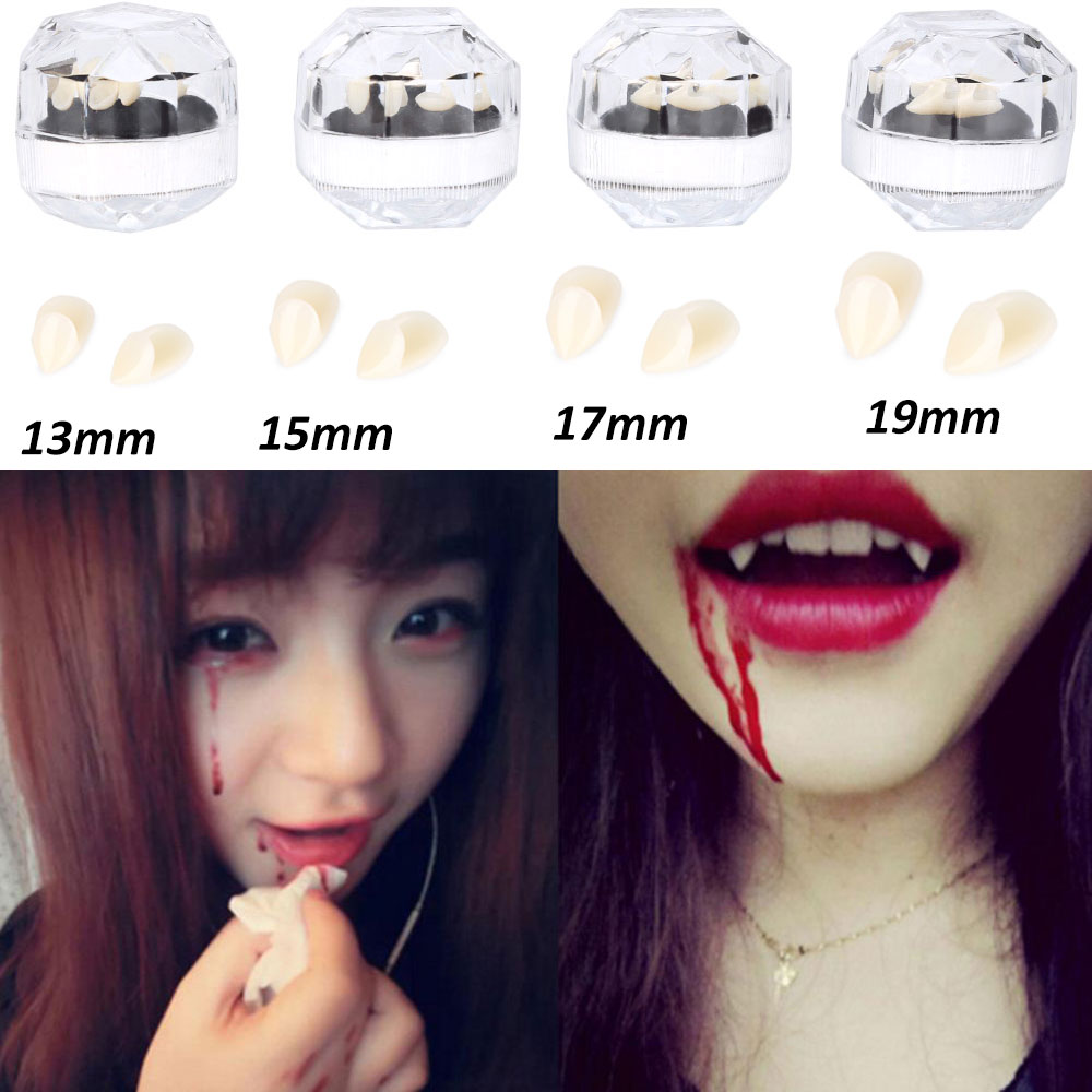 13mm Funny Goofy Fake Denture Teeth Decoration Cosplay Props for Vampire