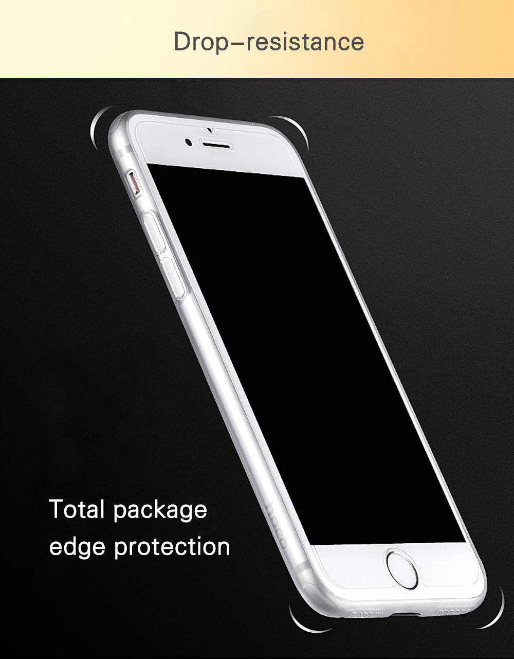 HOCO Frosted Soft Touch Flexible TPU Back Case for iPhone 7