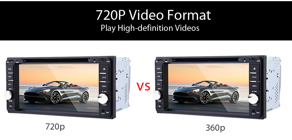 7 inch Car DVD Player 12V Auto Video Remote Control Intelligent Reversing Camera GPS Navigation Function