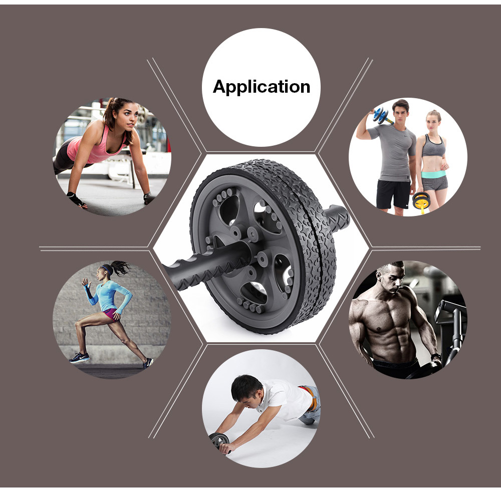 WIN MAX No Noise Gym Fitness Gear Abdominal Muscle Exercise Wheels Roller
